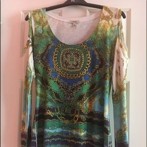 Cache cold Shoulder Top size small